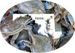 Maryland Crab Sublimation Transfer Maryland, MD, Crabs, home, Blue Crab