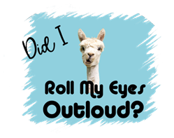 Alpaca Roll My Eyes sublimation print